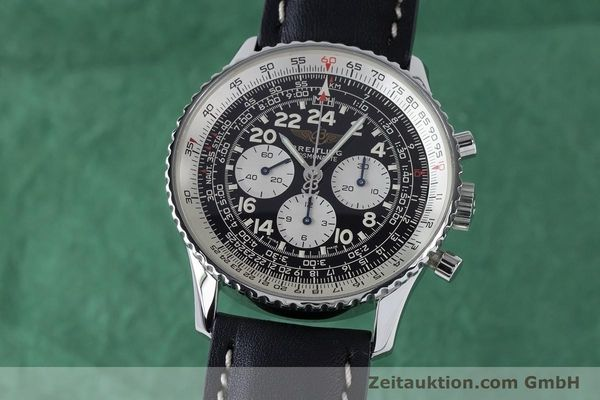 Used luxury watch Breitling Navitimer chronograph steel manual winding Kal. LWO 1873 Ref. A12023  | 161040 04