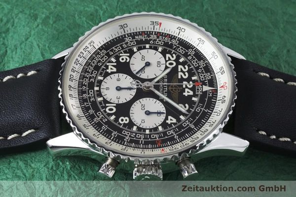 Used luxury watch Breitling Navitimer chronograph steel manual winding Kal. LWO 1873 Ref. A12023  | 161040 05