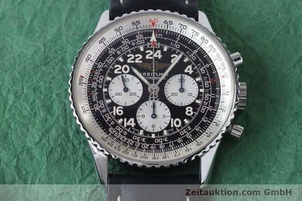 Used luxury watch Breitling Navitimer chronograph steel manual winding Kal. LWO 1873 Ref. A12023  | 161040 13