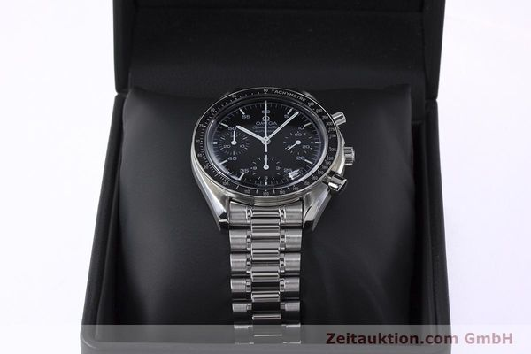 Used luxury watch Omega Speedmaster chronograph steel automatic Kal. 1143 ETA 2890A2 Ref. 3510.50.00  | 161047 07