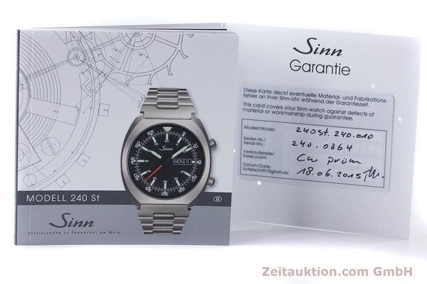 Used luxury watch Sinn 240 ST steel automatic Kal. Selita  220-1  | 161057 12