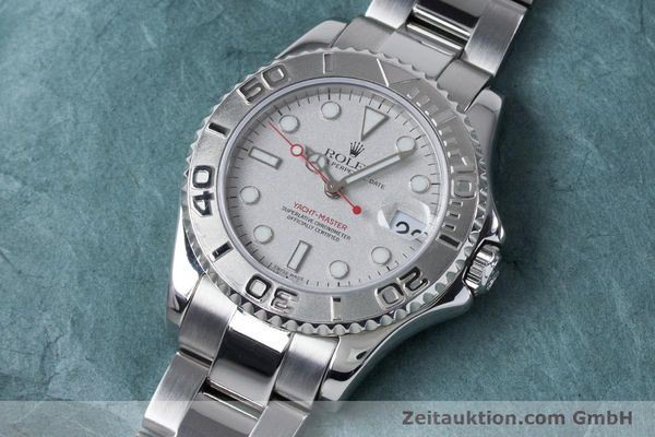Used luxury watch Rolex Yacht-Master steel / platinium automatic Kal. 2235 Ref. 168622  | 161059 01