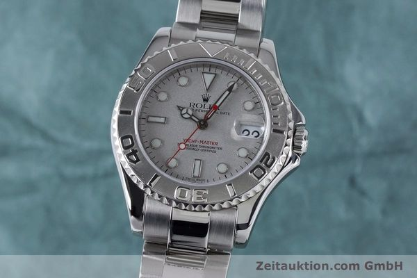 Used luxury watch Rolex Yacht-Master steel / platinium automatic Kal. 2235 Ref. 168622  | 161059 04