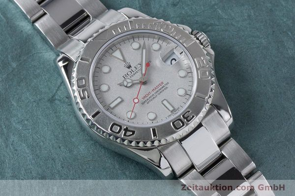 Used luxury watch Rolex Yacht-Master steel / platinium automatic Kal. 2235 Ref. 168622  | 161059 15