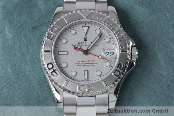 Used luxury watch Rolex Yacht-Master steel / platinium automatic Kal. 2235 Ref. 168622  | 161059 16