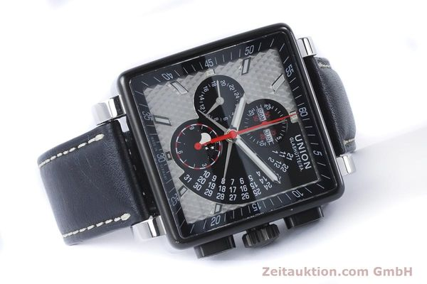 Used luxury watch Union Glashütte Averin chronograph steel automatic Kal. U7751 ETA 7751 Ref. D003.725A  | 161063 03