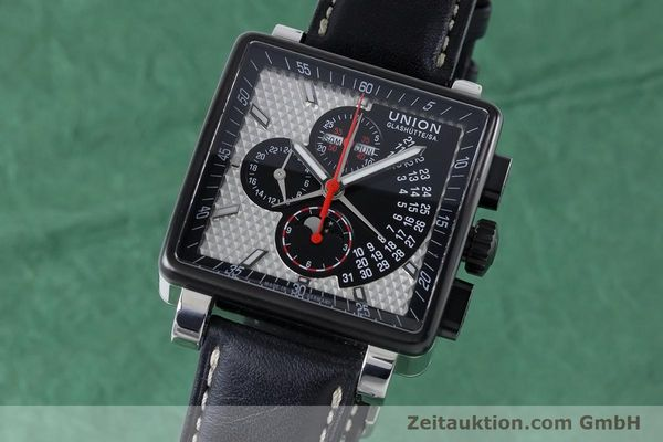 Used luxury watch Union Glashütte Averin chronograph steel automatic Kal. U7751 ETA 7751 Ref. D003.725A  | 161063 04