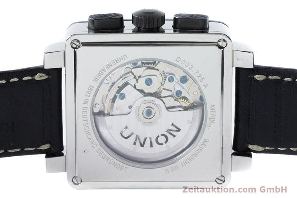 Used luxury watch Union Glashütte Averin chronograph steel automatic Kal. U7751 ETA 7751 Ref. D003.725A  | 161063 08