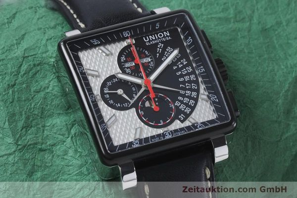 Used luxury watch Union Glashütte Averin chronograph steel automatic Kal. U7751 ETA 7751 Ref. D003.725A  | 161063 15