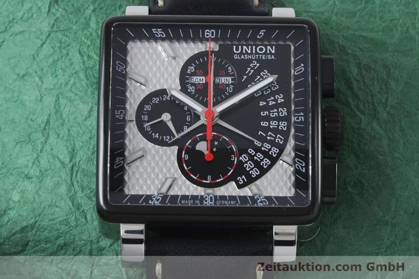 Used luxury watch Union Glashütte Averin chronograph steel automatic Kal. U7751 ETA 7751 Ref. D003.725A  | 161063 16