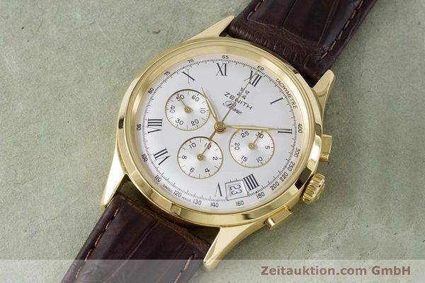 Used luxury watch Zenith Prime chronograph gold-plated manual winding Kal. 420 Ref. 20.0010.420  | 161071 01