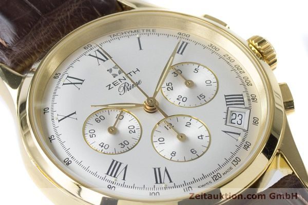 Used luxury watch Zenith Prime chronograph gold-plated manual winding Kal. 420 Ref. 20.0010.420  | 161071 02