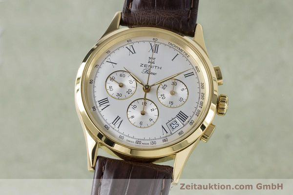 Used luxury watch Zenith Prime chronograph gold-plated manual winding Kal. 420 Ref. 20.0010.420  | 161071 04