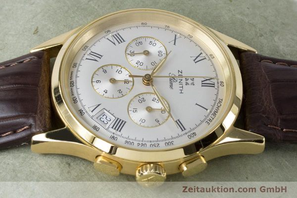 Used luxury watch Zenith Prime chronograph gold-plated manual winding Kal. 420 Ref. 20.0010.420  | 161071 05