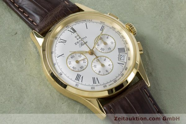 Used luxury watch Zenith Prime chronograph gold-plated manual winding Kal. 420 Ref. 20.0010.420  | 161071 12