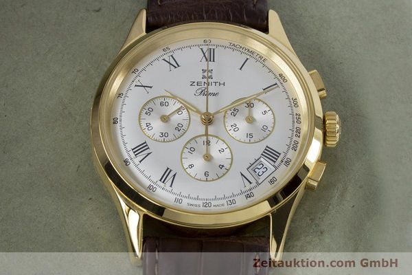 Used luxury watch Zenith Prime chronograph gold-plated manual winding Kal. 420 Ref. 20.0010.420  | 161071 13