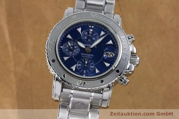 Used luxury watch Montblanc Sport Chronograph chronograph steel automatic Kal. 4810501 ETA 7750 Ref. 7034  | 161082 01