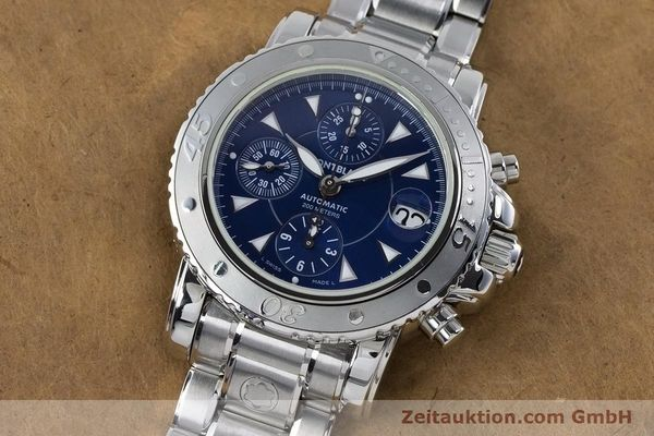 Used luxury watch Montblanc Sport Chronograph chronograph steel automatic Kal. 4810501 ETA 7750 Ref. 7034  | 161082 04