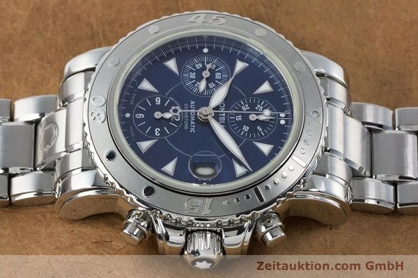 Used luxury watch Montblanc Sport Chronograph chronograph steel automatic Kal. 4810501 ETA 7750 Ref. 7034  | 161082 05