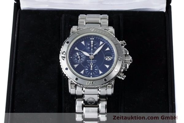 Used luxury watch Montblanc Sport Chronograph chronograph steel automatic Kal. 4810501 ETA 7750 Ref. 7034  | 161082 07