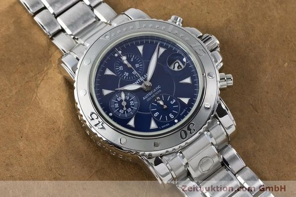 Used luxury watch Montblanc Sport Chronograph chronograph steel automatic Kal. 4810501 ETA 7750 Ref. 7034  | 161082 15