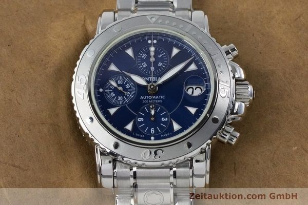 Used luxury watch Montblanc Sport Chronograph chronograph steel automatic Kal. 4810501 ETA 7750 Ref. 7034  | 161082 16