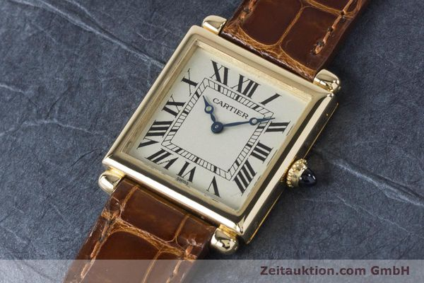 Used luxury watch Cartier Tank Obus 18 ct gold quartz Kal. 167 Ref. 1630  | 161084 01
