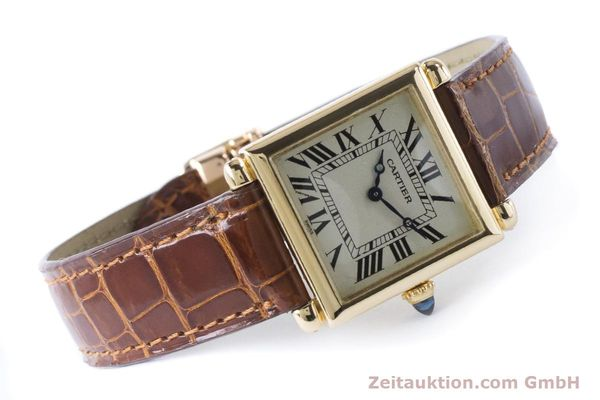 Used luxury watch Cartier Tank Obus 18 ct gold quartz Kal. 167 Ref. 1630  | 161084 03