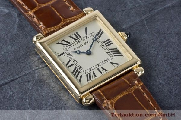 Used luxury watch Cartier Tank Obus 18 ct gold quartz Kal. 167 Ref. 1630  | 161084 15