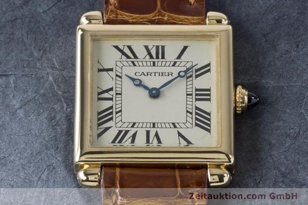 Used luxury watch Cartier Tank Obus 18 ct gold quartz Kal. 167 Ref. 1630  | 161084 16