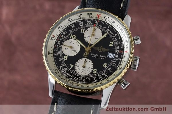 Used luxury watch Breitling Navitimer chronograph steel / gold automatic Kal. B13 ETA 7750 Ref. B13019  | 161093 04