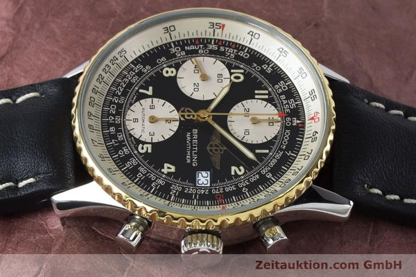 Used luxury watch Breitling Navitimer chronograph steel / gold automatic Kal. B13 ETA 7750 Ref. B13019  | 161093 05