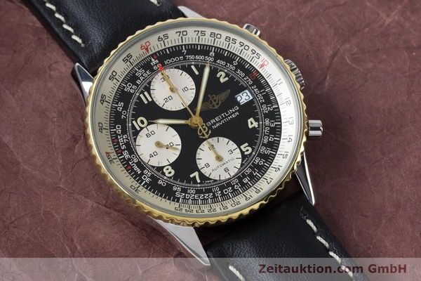 Used luxury watch Breitling Navitimer chronograph steel / gold automatic Kal. B13 ETA 7750 Ref. B13019  | 161093 13