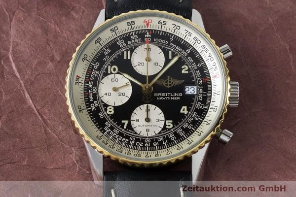 Used luxury watch Breitling Navitimer chronograph steel / gold automatic Kal. B13 ETA 7750 Ref. B13019  | 161093 14