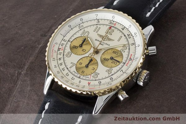 Used luxury watch Breitling Navitimer chronograph steel / gold automatic Kal. B30 ETA 2892A2 Ref. D30022  | 161095 01