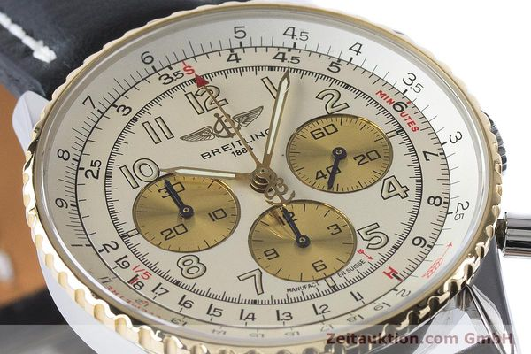 Used luxury watch Breitling Navitimer chronograph steel / gold automatic Kal. B30 ETA 2892A2 Ref. D30022  | 161095 02