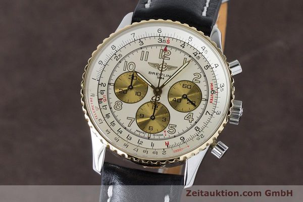Used luxury watch Breitling Navitimer chronograph steel / gold automatic Kal. B30 ETA 2892A2 Ref. D30022  | 161095 04