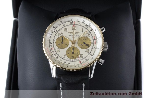 Used luxury watch Breitling Navitimer chronograph steel / gold automatic Kal. B30 ETA 2892A2 Ref. D30022  | 161095 07
