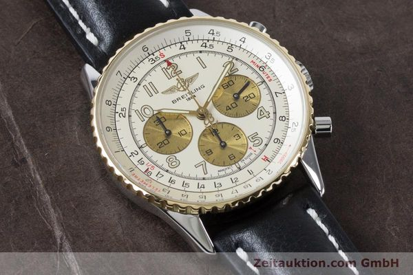 Used luxury watch Breitling Navitimer chronograph steel / gold automatic Kal. B30 ETA 2892A2 Ref. D30022  | 161095 13