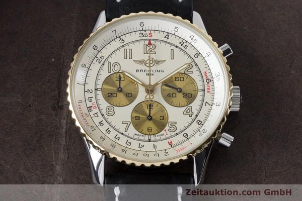 Used luxury watch Breitling Navitimer chronograph steel / gold automatic Kal. B30 ETA 2892A2 Ref. D30022  | 161095 14