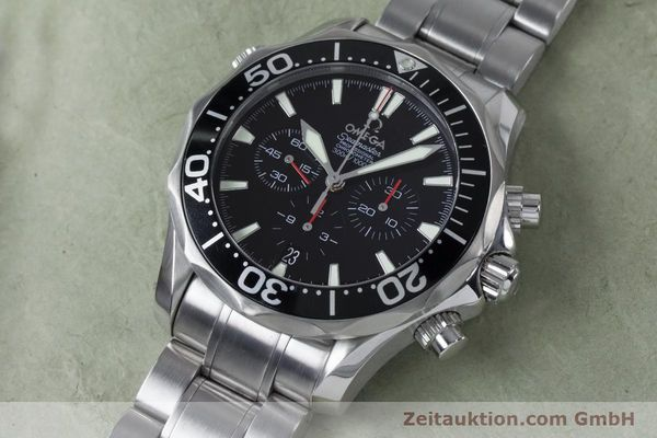 Used luxury watch Omega Seamaster chronograph steel automatic Kal. 3301 Ref. 25945200  | 161097 01