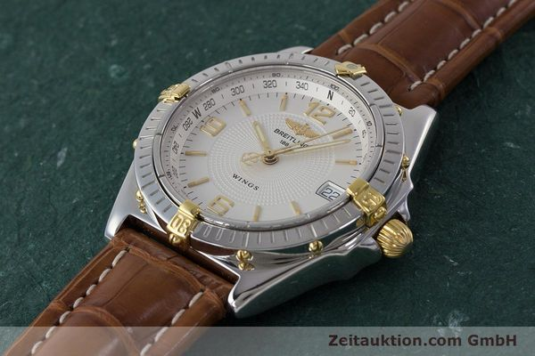 Used luxury watch Breitling Wings steel / gold automatic Kal. B10 ETA 2892A2 Ref. B10050  | 161098 01