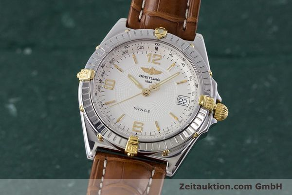 Used luxury watch Breitling Wings steel / gold automatic Kal. B10 ETA 2892A2 Ref. B10050  | 161098 04