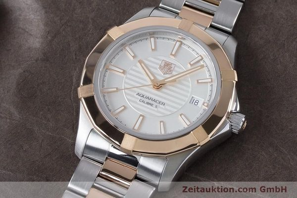 Used luxury watch Tag Heuer Aquaracer steel / gold automatic Kal. 5 Ref. WAP2150  | 161102 01