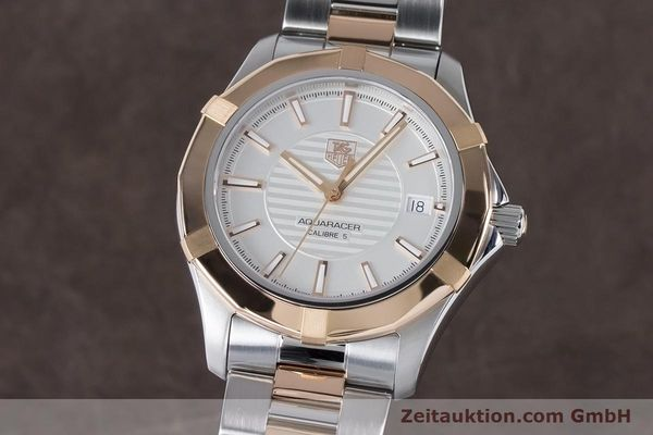 Used luxury watch Tag Heuer Aquaracer steel / gold automatic Kal. 5 Ref. WAP2150  | 161102 04