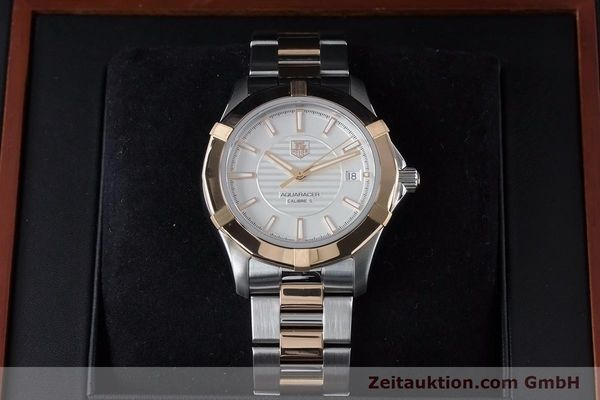 Used luxury watch Tag Heuer Aquaracer steel / gold automatic Kal. 5 Ref. WAP2150  | 161102 07