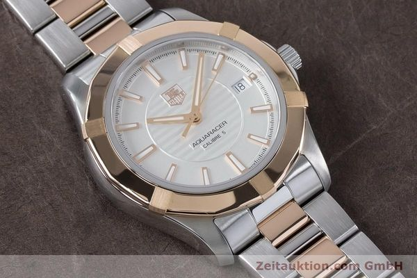 Used luxury watch Tag Heuer Aquaracer steel / gold automatic Kal. 5 Ref. WAP2150  | 161102 16