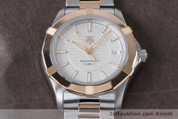 Used luxury watch Tag Heuer Aquaracer steel / gold automatic Kal. 5 Ref. WAP2150  | 161102 17