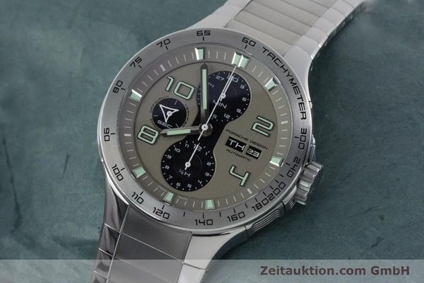 Used luxury watch Porsche Design Dashbord chronograph steel automatic Kal. ETA 7750 Ref. P6340  | 161104 01