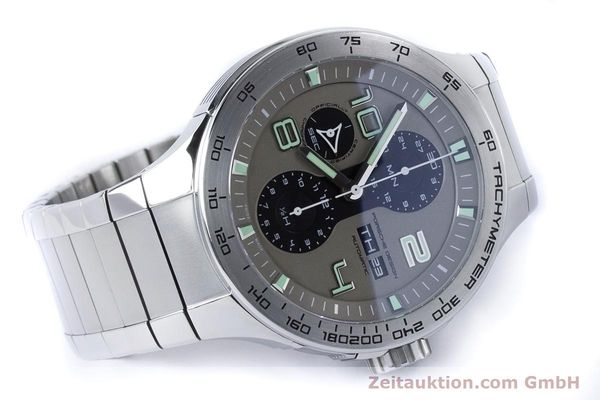 Used luxury watch Porsche Design Dashbord chronograph steel automatic Kal. ETA 7750 Ref. P6340  | 161104 03